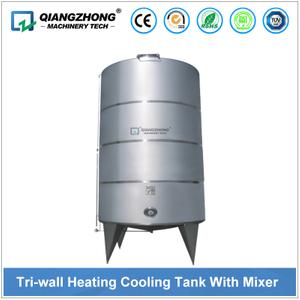 Tri-wall Heating Cooling Tank With Mixer